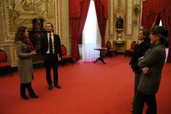 Un instant de la visita de Jordi Cabré