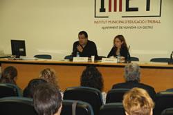 L'alcalde ha parlat sobre la inserció laboral del col·lectiu de malalts mentals a través de l'IMET