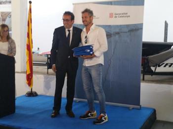 El conseller de Territori i Sostenibilitat, Josep Rull i el regidor de Serveis Viaris, Joan Giribet