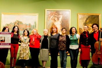 Les participants al recital poètic