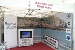 Estand de Vilanova i la Geltrú a la fira de Sant Isidre, a Solsona