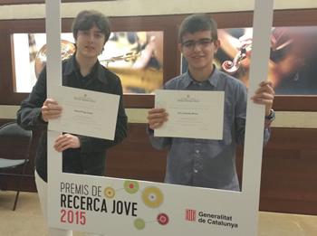 Gerard Puig i Eric Limones van recollir el premi a l'Auditori de Barcelona
