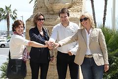 D'esquerra a dreta, Sílvia Gratacós, Àngels Chacón, Gerard Figueras, i Dolors Rius