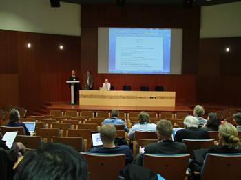 Michel André i Jean-Claude Gascard, en l'obertura de l'assemblea general d'ACCESS