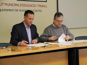 Antoni Yuste i Joan Martorell han signat el conveni de col·laboració