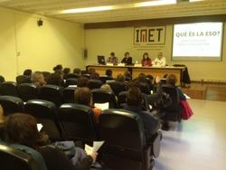 La xerrada es va fer a la sala d'actes de l'IMET