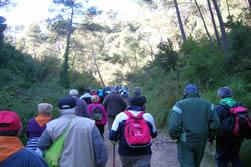 Un instant de la passejada per Corbera del Llobregat