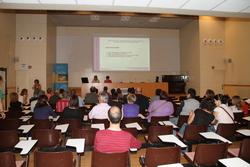 La presentació de la primera proposta de model de gestió, a la sala d'actes de l'EPSEVG