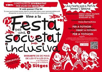 El cartell de la Festa per a una Societat Inclusiva