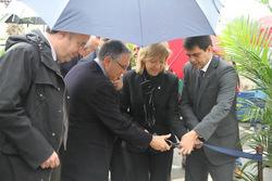 Els quatre alcaldes han tallat la cinta per inaugurar la Fira