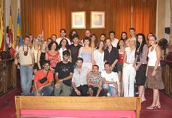 Els joves reunits a VNG han estat avui a l'Ajuntament