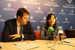 Gerard Figueras i Ariadna Llorens en la presentació del Pla de xoc contra l'atur juvenil