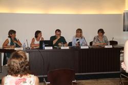 Signatura del conveni a la Masia d'en Cabanyes