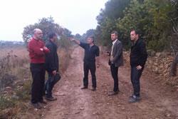 La visita a la zona de l'Ortoll es va fer divendres passat