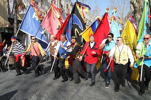 Seguici de banderers de les societats vilanovines