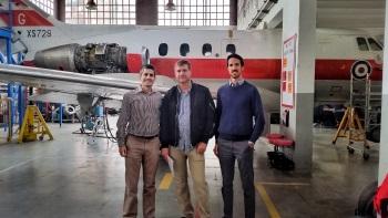 El director tècnic de KLM i els responsables de l'EFAV