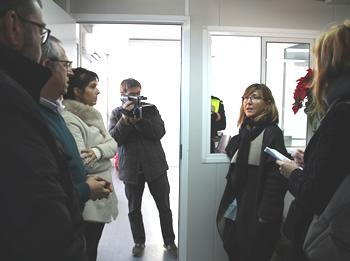 Visita aquest matí de la regidora de Seguretat Ciutadana Glòria Garcia