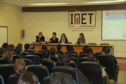 La sessió es va realitzar a la Sala d'Actes de l'IMET