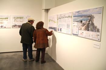 Exposició sobre el front marítim de VNG a La Sala
