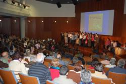 L'auditori de Neapolis, ple durant la trobada