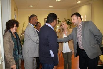 Una delegació del govern vilanoví ha rebut l'alcalde de Boulenoir
