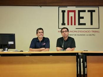 Jordi Palacios i Álvaro Molinuevo  han donat la benvinguda als alumnes