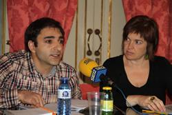 Isabel Pla i Jordi Gaspar, aquest mati durant la presentació