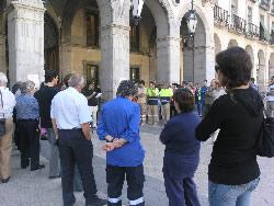 El manifest s'ha llegit a la plaça de la Vila