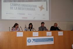 D'esquerre a dreta, Mari Àngels Roque, Ariadna Llorens, Frederic Vilà i Tahar Ben Jelloun