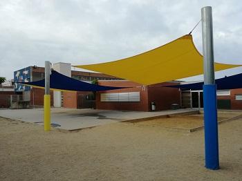 El pati de l'escola Ginesta, una actuació dels pressupostos participatius 2017