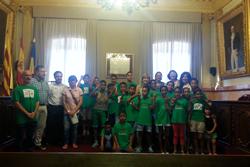 Els nens i nenes sahrauís van ser rebuts a l'Ajuntament de VNG