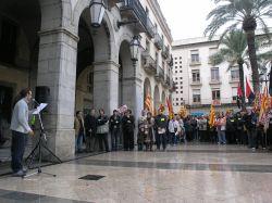 Manifestació de Mahle a la plaça de la Vila
