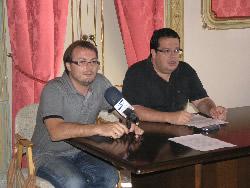 Juan Luis Ruiz, regidor de Serveis Viaris i Joan Ignasi Elena, alcalde de VNG