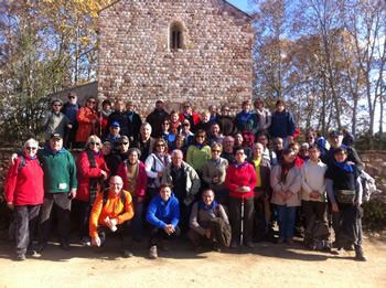 Grup de vilanovins i vilanovines a Mollet del Vallès
