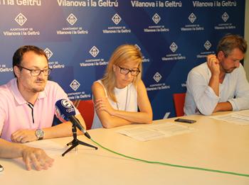 Juan Luís Ruiz, Neus Lloveras i Joan Giribet parlen del Pla de Mobilitat que es debatrà dilluns al Ple