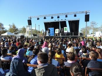 L'acte s'ha fet a l'entarimat de la Fira de Novembre, al parc de Baix-a-Mar