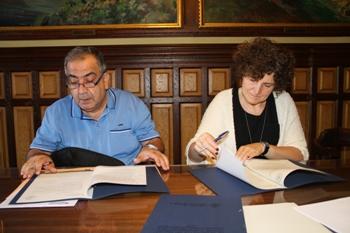 El conveni  l'han signat aquest matí la regidora de Convivència i el president del CITE