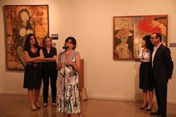 Un instant de la inauguració de la mostra