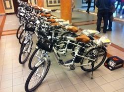 Aquestes són les bicicletes que aquest matí ha lliurat la Diputació a diversos municipis