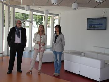 D'esquerra a dreta, Ricard Faura, Neus Lloveras i Ariadna Llorens