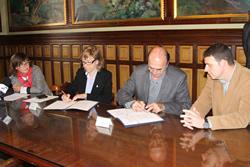 Signatura del conveni, aquest matí