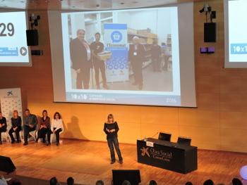 Un moment de la presentació a Barcelona