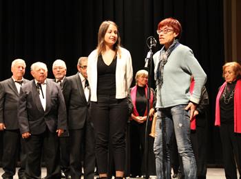 Les regidores Blanca Albà i Gisela Vargas, ahir a la tarda