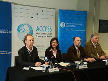 D'esquerre a dreta: Michel André, Ariadna Llorens, Fernando Orejas i Jean-Claude Gascard