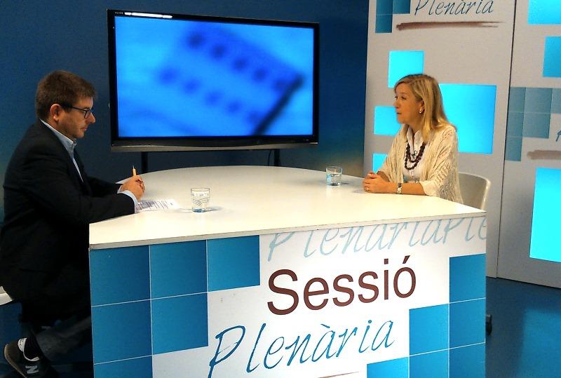 Neus Llovears al Sessió Plenària
