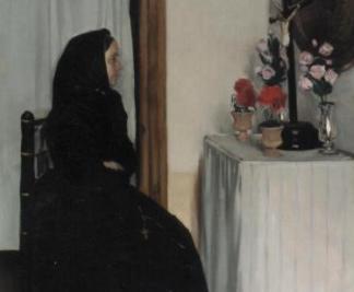 La vídua és un dels retrats de Ramon Casas que es pot veure al Museu Víctor Balaguer