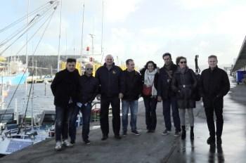 La delegació, al port d'Avilés