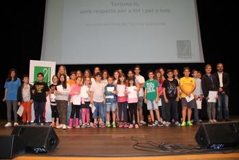 Els alumnes que han participat en la lectura del manifest
