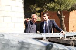 El regidor Gerard Figueras i Josep Ayza, president del Museu del Mar
