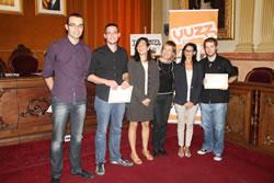 Imatge dels guanyadors i finalista de l'edició 2011 del programa Yuzz-Neàpolis